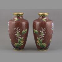 Cloisonne: vases